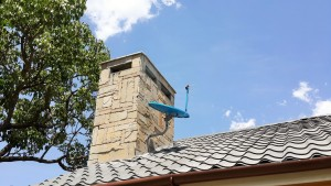 Chimney with Mazeras Cladding