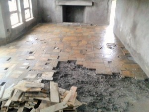 Interior Mazeras Floor in Process