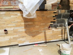 Mazeras Wall Cladding with 2in pieces
