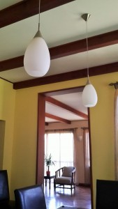 Mahogany Beam Ceiling